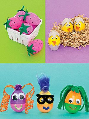 Hats Off to Eggs! 17 Ways to Decorate Easter Eggs: Plastic-Egg Decorations (via Parents.com)