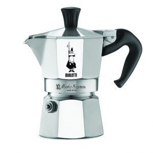 Original Bialeti Moka Expresso: Is a wonder of Mediterranean culture. The machine comes in several sizes, from 1 – 12 with the smallest one costing only $18. It is not a headache when it comes to cleaning, re-assemble and most importantly gives great shots of espresso.