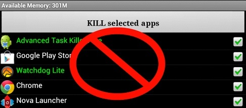 Android Task Killers Are Useless  http://www.theandroidgallery.com/android-task-killers-are-useless/