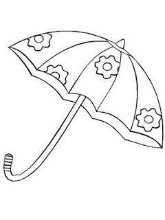 Risco para pintura de guarda-chuva