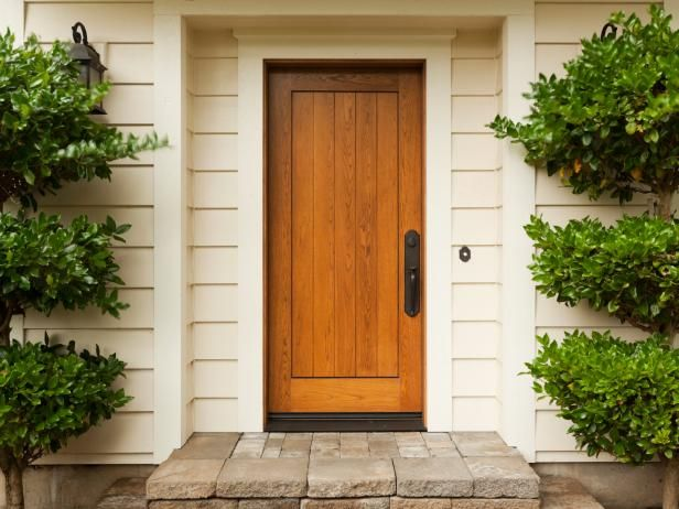 17 best ideas about wood front doors on pinterest entry for Fiberglass doors pros and cons