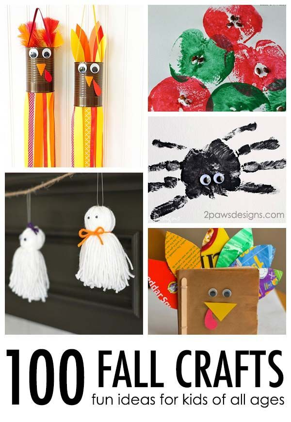 100 Fall Crafts For Kids 2paws Designs Toddlers