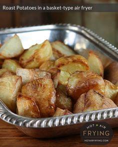 Roast potatoes in a basket air fryer