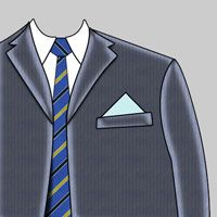 One Point Pocket Square