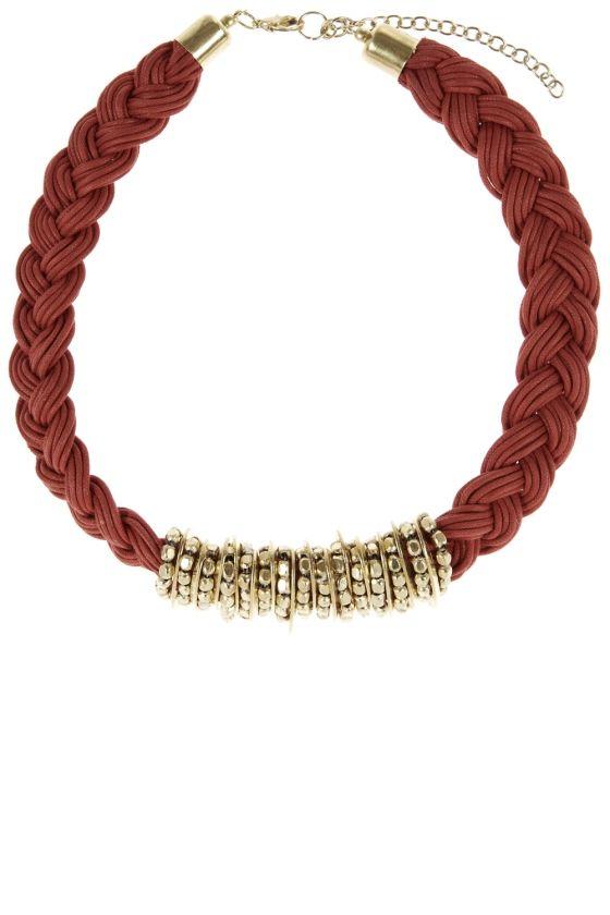 Primark High Summer 2014 Plaited Necklace, £3