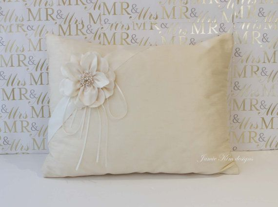 Kneeling Pillow for Wedding and Quinceanera by jamiekimdesigns