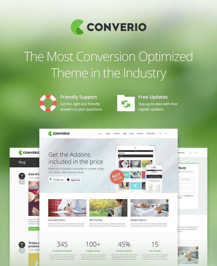 Converio - Conversion Optimized WordPress Theme
