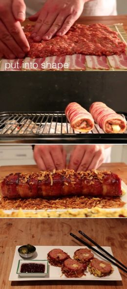 These BBQ Bacon Sushi Rolls Look So Good They Should Be Illegal