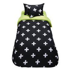 Living & Co Kids Comforter Set Crosses 4 Piece Single
