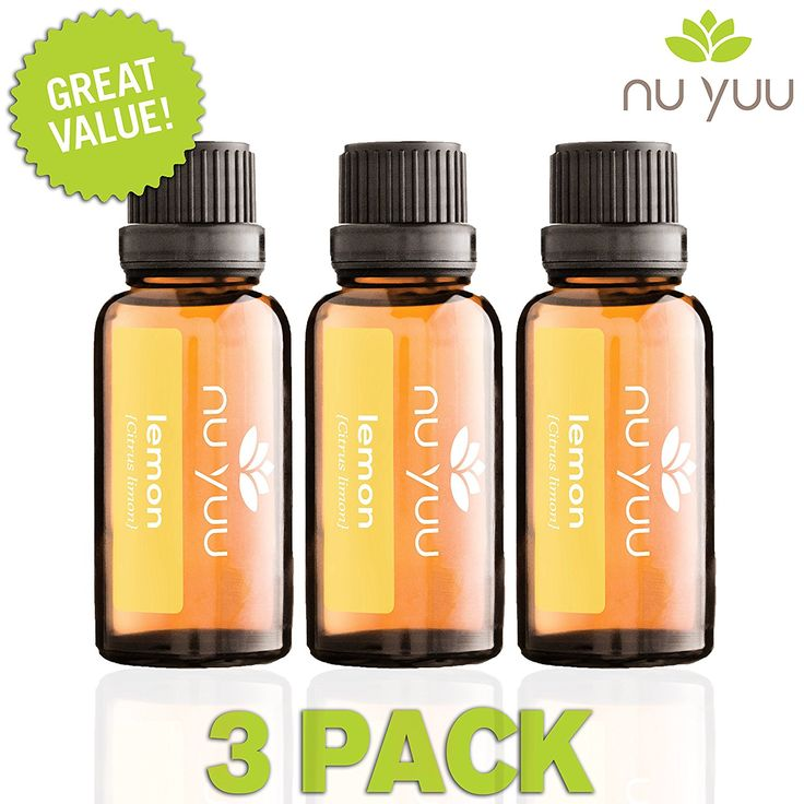 Nu Yuu Lemon 100% Pure Therapeutic Grade Essential Oil (3-Pack), Size 30 mL -- Review more details here : NOW essential oils