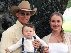Singer Jewel, husband Ty Murray, and son Kase! More