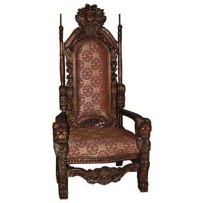 Afd, KF-KS1001, , Afd Kf Ks1001 Carved Wood King Chair