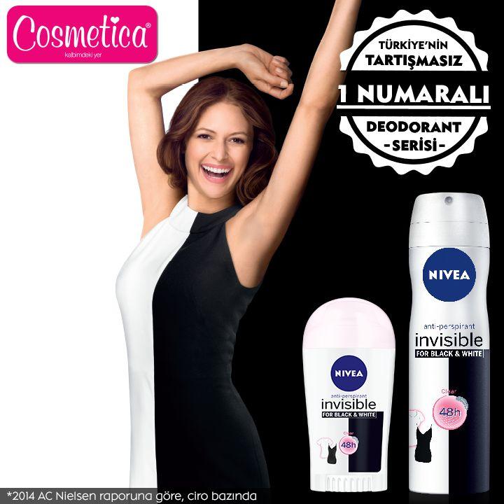 NIVEA Black&White serisi sadece kıyafetlerini korumakla kalmaz, cildine de bakım yapar! Siyahlar siyah, beyazlar daha uzun süre beyaz kalır!