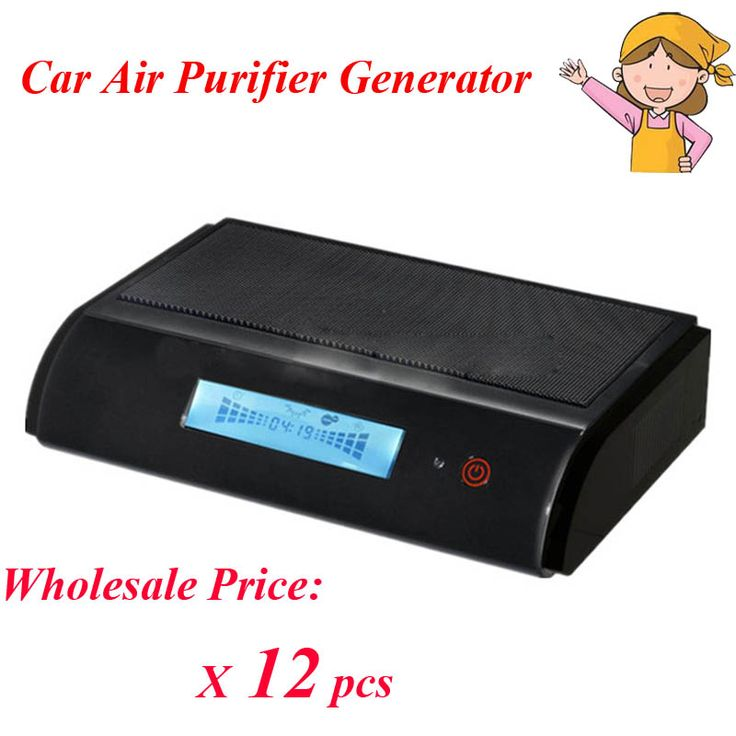 12PCS/Lot GL-518 Hot Sale New Car Air Purifier Generator HEPA Activated Carbon UV Anion Ozone Air Filter