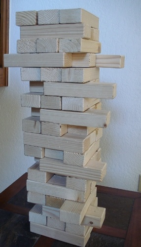 Jenga, Giant jenga and Jenga game on Pinterest