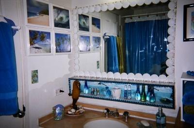 27 best images about ocean theme bathroom on pinterest for Sea themed bathroom ideas