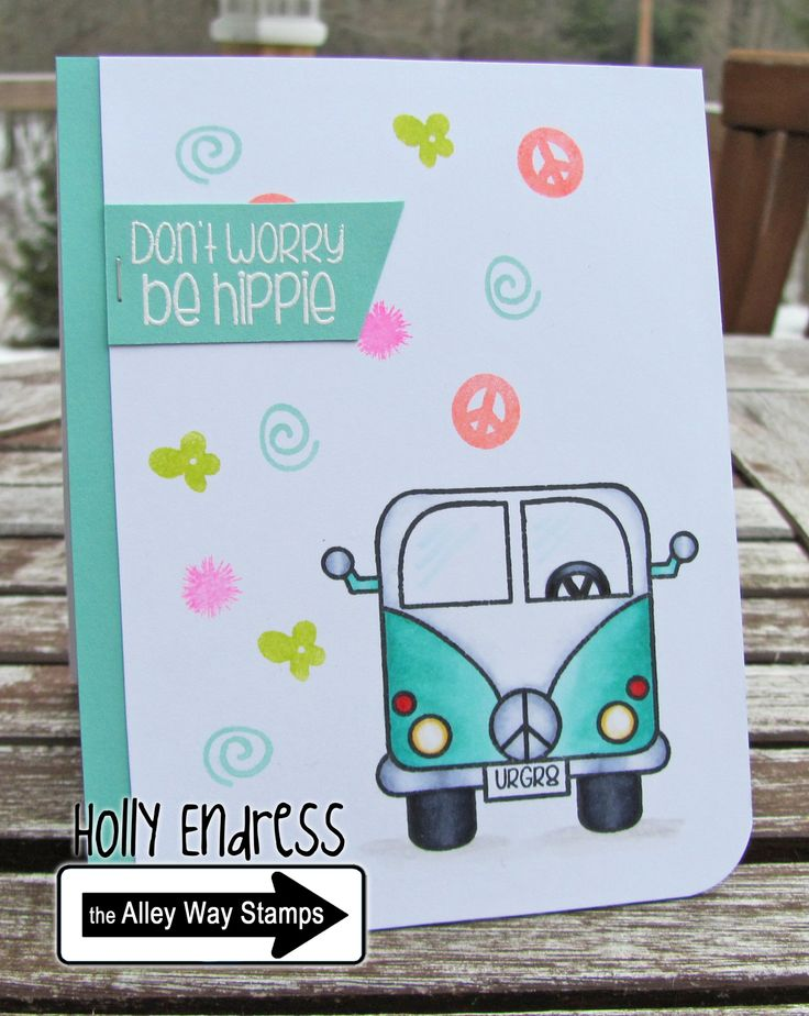 Hollybeary Creations || The Alley Way Stamps, TAWS, cards, clear stamps, Feeling Groovy