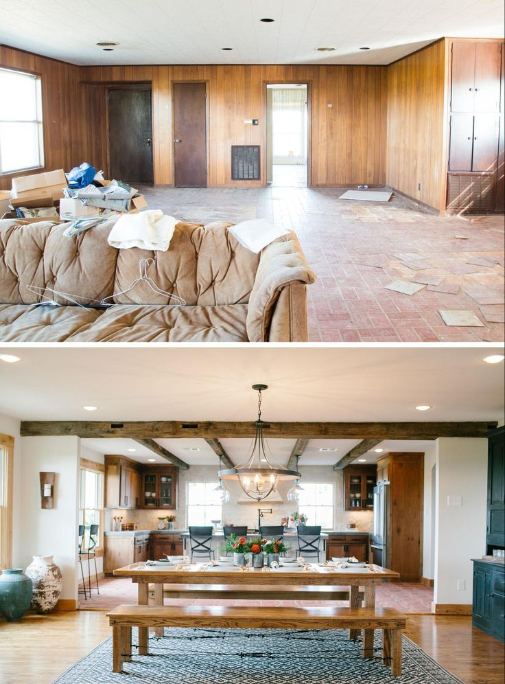 Fixer upper before and after. paw paws house . Island dining table