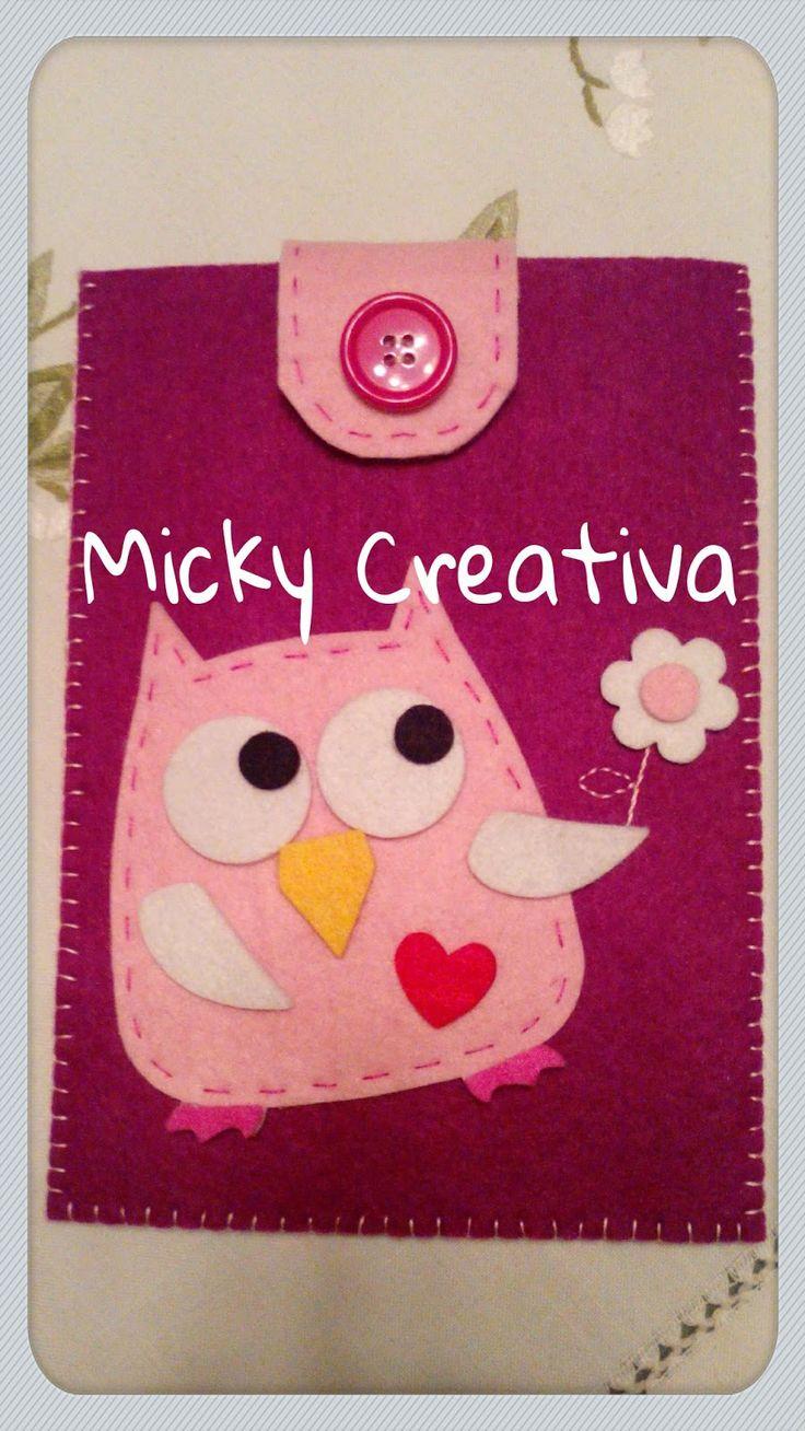 Micky Creativa: Portacellulare & Co. tutto rigorosamente in feltro