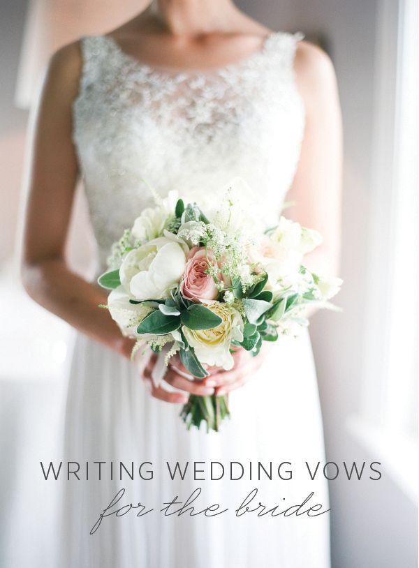 How to write your wedding vows for the Bride via oncewed.com