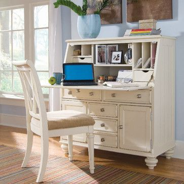 computer armoire in cinnamon cherry see more american drew camdenlight work station w barstool in white painted traditional