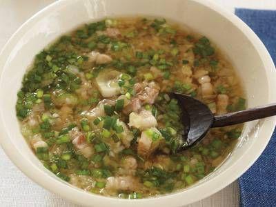 コウ ケンテツさんの[豚の簡単ねぎ塩スープ]レシピ|使える料理レシピ集 みんなのきょうの料理