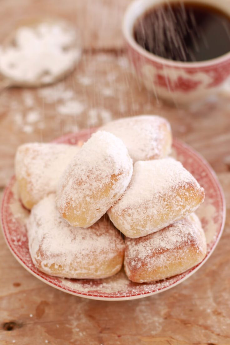 Homemade Beignets (Baked not Fried)- why fry when you can make beautiful light and fluffy baked Beignets.