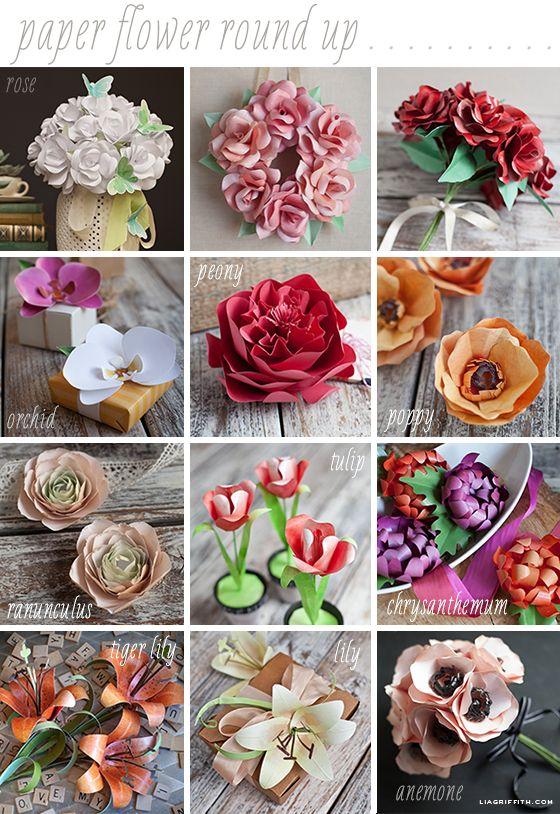 Paper Flower Crafts- Round Up