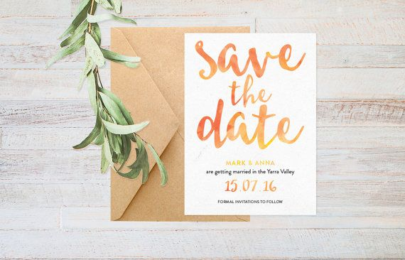 Autumn wedding, Printable save the date, Summer wedding save the date, Outdoor wedding, Wedding stationery, Save the date rustic