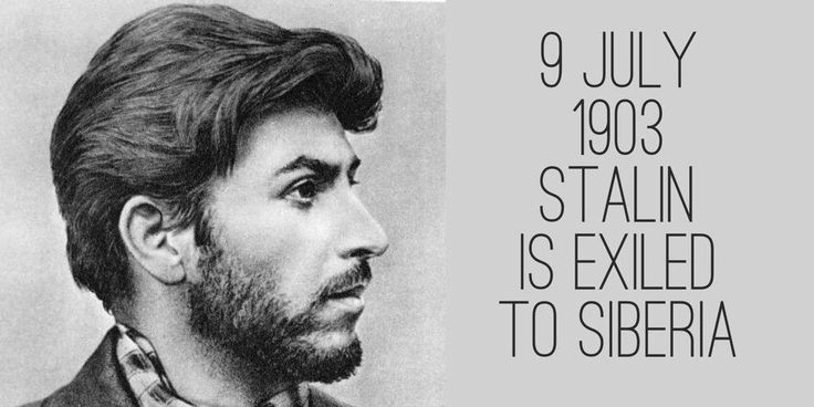 9 July 1903. Joseph Stalin is exiled to Novaya Uda village in Siberia for three years