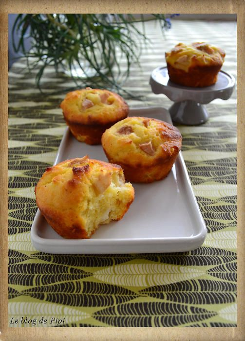 Tvarohové muffiny s hruškami (bez lepku)