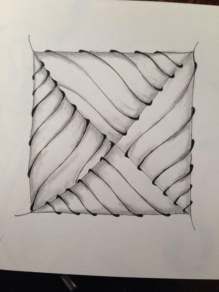 Zentangle tangle pattern