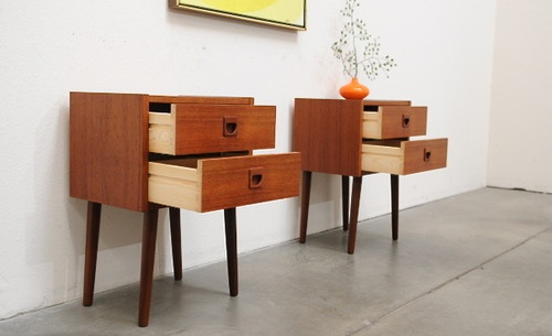 Best 1960S Scandinavian Modern Teak Nightstand Bedside Tables 640 x 480