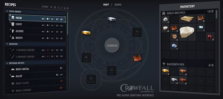 Crowfall - Throne War MMO | User Interface Concepts