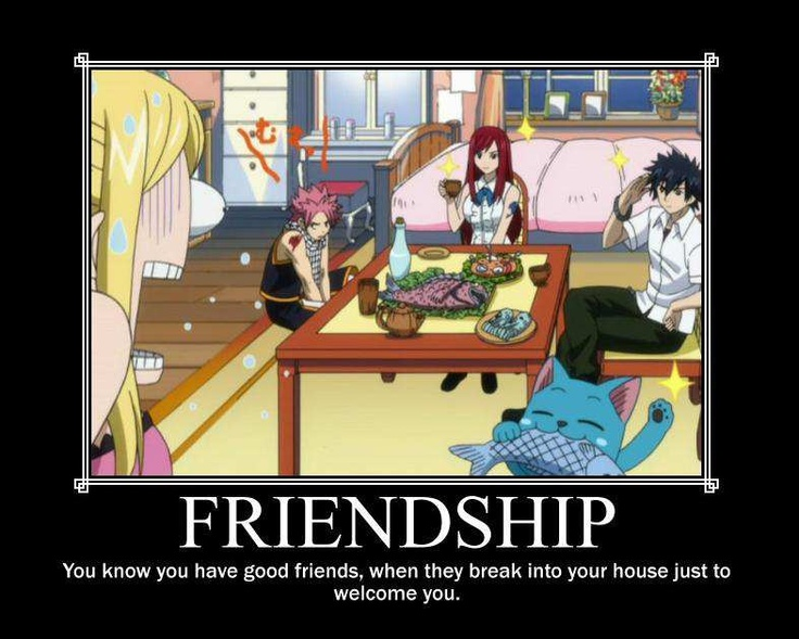 Wish my friends did that. #Fairy Tail