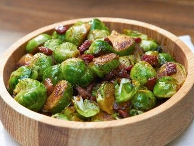 Balsamic Glazed Brussels Sprouts with Pancetta ~ from Dinner at Tiffani's