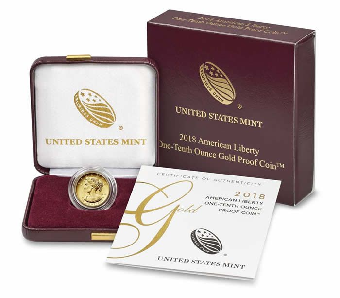 United States Mint Issues One Tenth Ounce American Liberty Gold Proof Coin on February 8 - Coin Community Forum