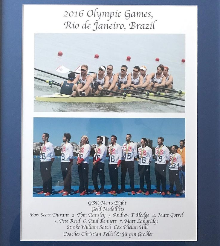 #ThrowbackThursday to (Super) Saturday 13th August 2016. What we did together this day will bond us for the rest of our lives. I will owe these men forever. For 5:29.63 everything came together in the most remarkable way. #JürgenGrobler #Master #Rowing By the way, this is the framed pic that we were each given last week at the GB Rowing Team dinner. #PrideofPlace