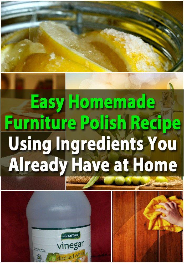 + best Homemade furniture polish ideas on Pinterest  Green