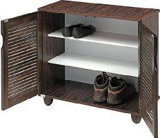Royal Oak Libra Double Door Shoe Rack with 3 Shelves (Honey Brown)