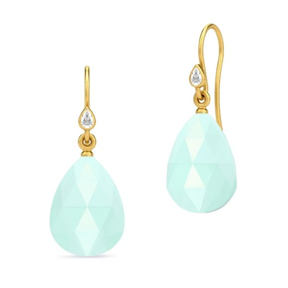 Julie Sandlau aqua drop earrings