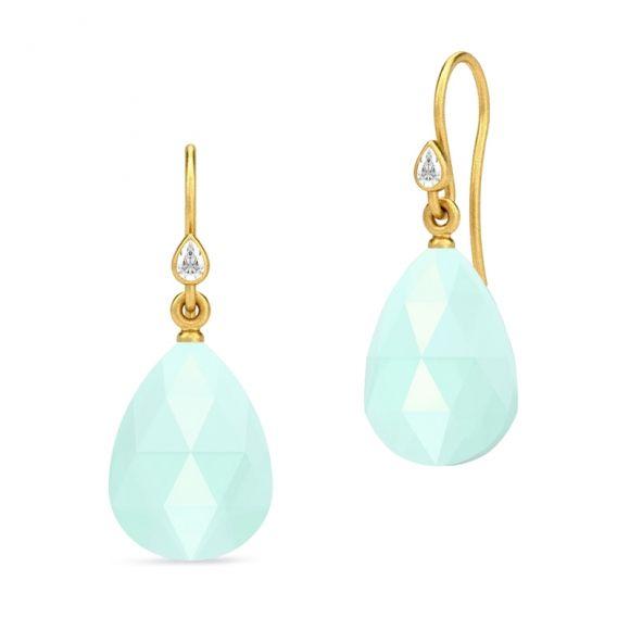 Julie Sandlau aqua drop earrings