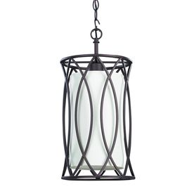 canarm monica 9in w oil rubbed bronze mini pendant light with white shade