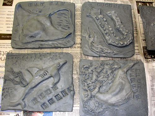 Pin by jillian katona on clay projects pinterest for Clay tile mural