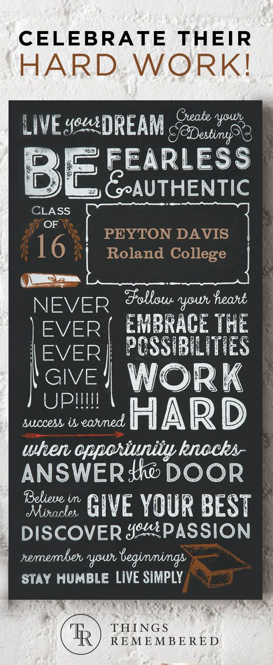 Celebrate their hard work and dedication with personalized gifts for The Class of 2016. Get more gift ideas for graduates at ThingsRemembered.com!