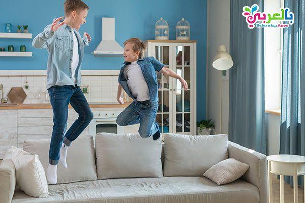 91 فكرة أنشطة وألعاب مسلية للأطفال في المنزل 2020 بالعربي نتعلم Father And Son Professional Business Cards Sofa