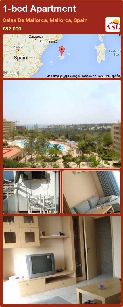 1-bed Apartment in Calas De Mallorca, Mallorca, Spain ►€82,000 #PropertyForSaleInSpain