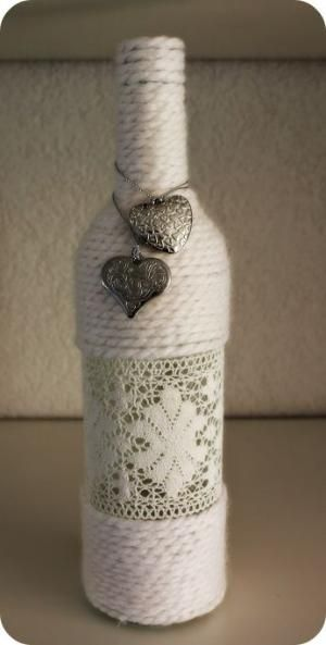 How to Do It ~ DIY - Community - Google+ Yarn wrapped bottle tutorial...link through to blog by MarylinJ