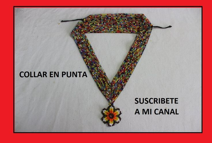 COMO UNIR COLLAR EN PUNTA//mostacilla checa