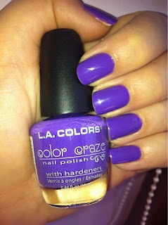 L.A. Colors - Color Craze - Fun In the Sun Mini swatched on 1 nail